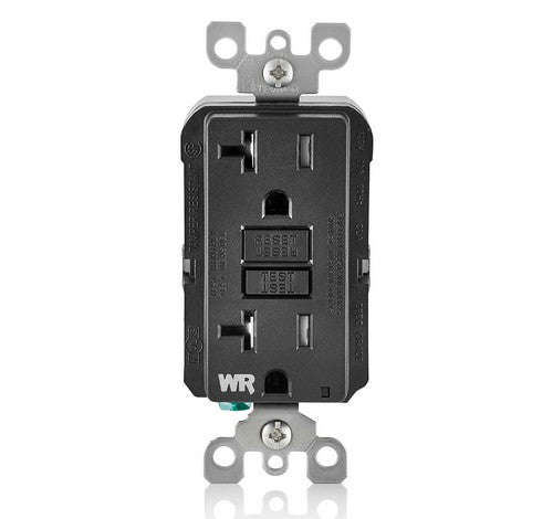 LEVITON GFWT2 Self-Test SmartlockPro Slim Weather-Resistant and Tamper-Resistant Receptacle with LED Indicator 20A / 125 VAC BL - BuyRite Electric