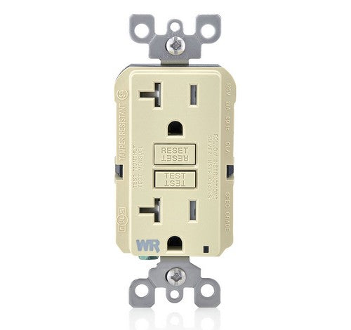 LEVITON GFWT2 Self-Test SmartlockPro Slim Weather-Resistant and Tamper-Resistant Receptacle with LED Indicator 20A / 125 VAC IV - BuyRite Electric
