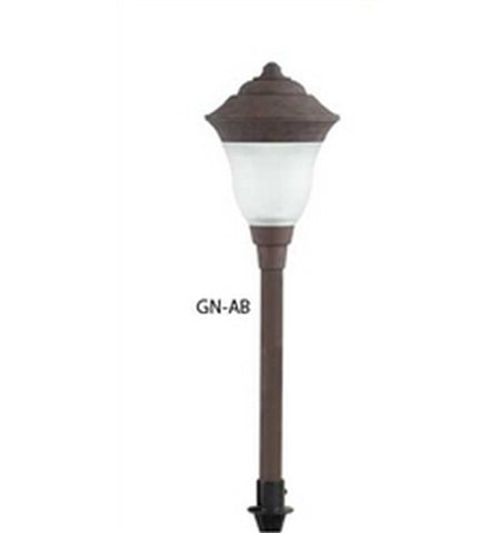 Hubbell Outdoor Lighting GN-AB 1.5W Antique Bronze Finish LED Greenville Lightscraper Landscape Light, Die Cast Aluminum- BuyRite Electric