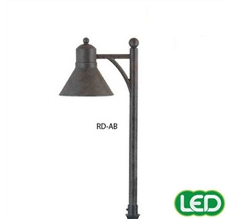 Hubbell Outdoor Lighting RD-AB 1.5W Antique Bronze Finish LED Reidville Lightscraper Landscape Light, Die Cast Aluminum- BuyRite Electric