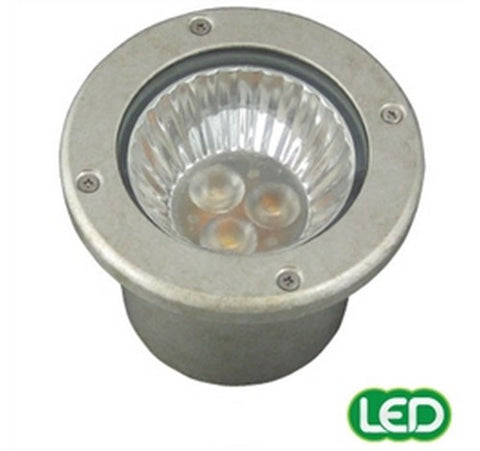 Hubbell Outdoor Lighting RE-PT 3W Pewter Finish LED Recessed Lightscraper Landscape Light, Die Cast Aluminum- BuyRite Electric