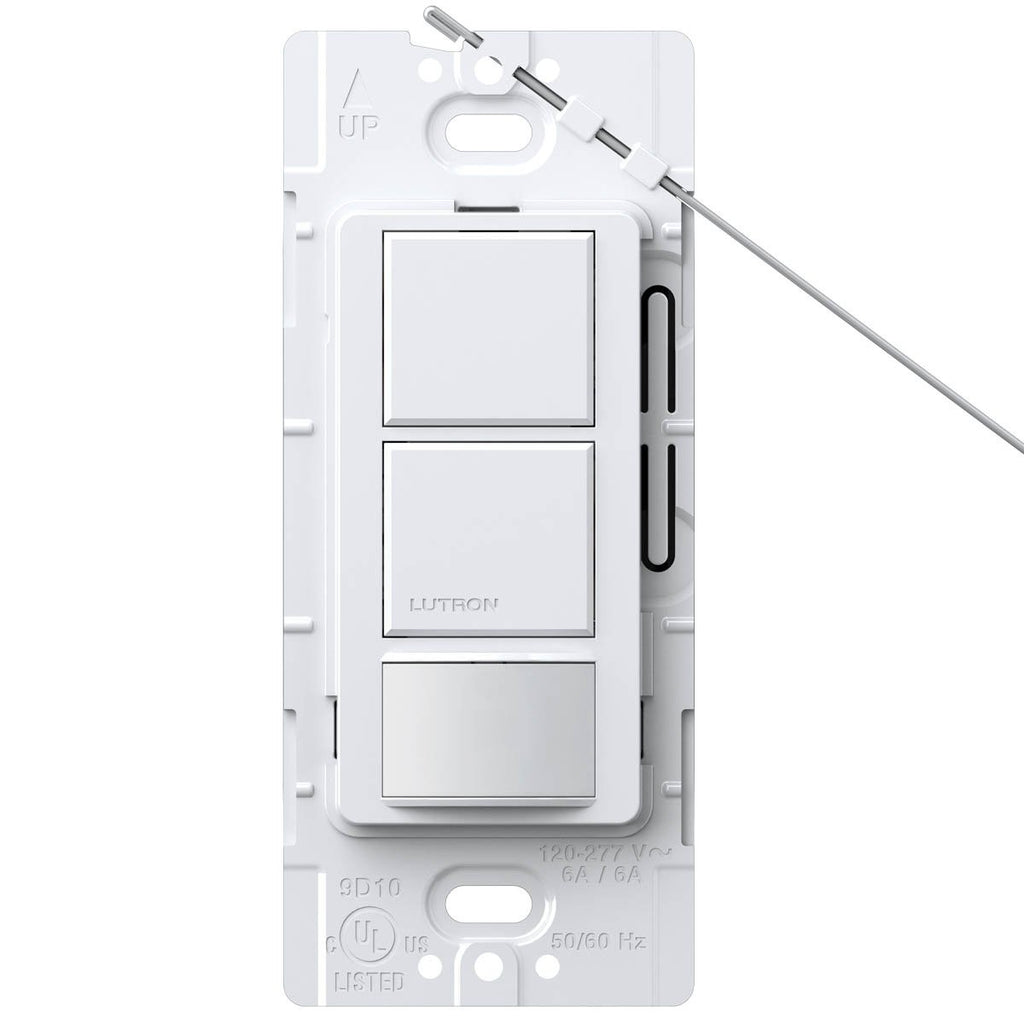 Lutron Maestro Dual-Circuit Switch with Occupancy / Partial-On Sensor WH - BuyRite Electric