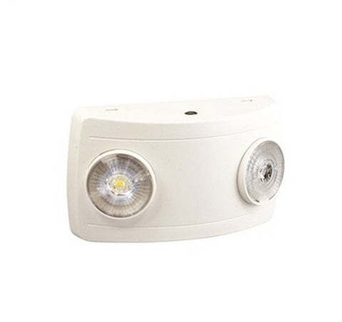 Nora Lighting NE-602LEDRC 2W / 150lm Compact Dual Head LED Emergency Light with remote battery and Self Diagnostics