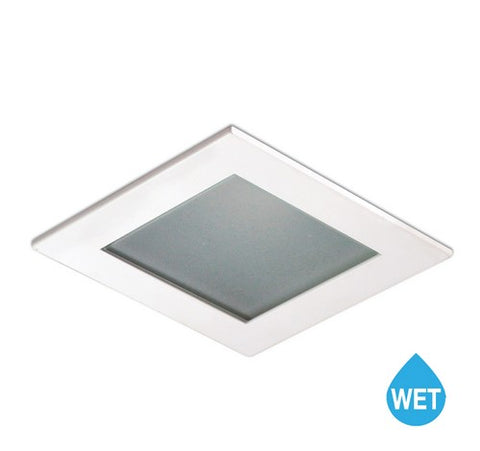 "Nora Lighting NL-4584 4"" Square Frosted Flat Lens with Reflector Trim - BuyRite Electric"