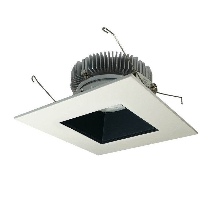 Nora Lighting NLCB2-6562035BW 6 Inch Cobalt 30W, 3500K, Black / White Finish LED High Lumen Square Reflector with Square Aperture