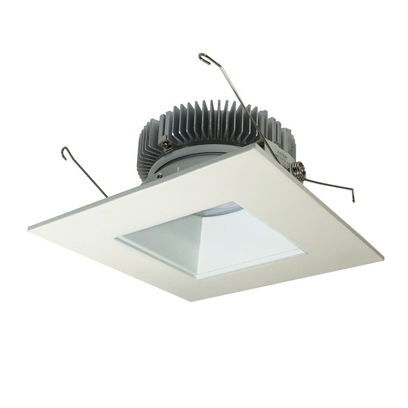 Nora Lighting NLCB2-6562040MPW 6 Inch Cobalt 30W, 4000K, Matte Powder White Finish LED High Lumen Square Reflector with Square Aperture