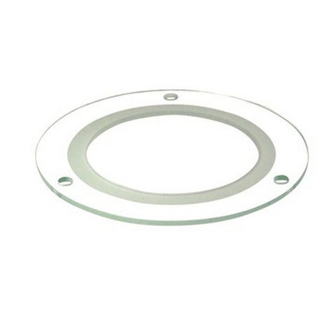 "Nora Lighting NTG-4HC 4"" Tempered Clear Glass with Frosted Center and 3-1/8"" Open Center - BuyRite Electric"