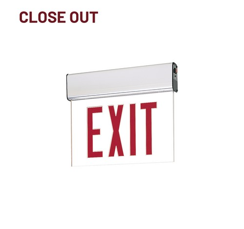 Nora Lighting NX-508-LED Edge-Lit LED Exit Sign with Emergency Circuit