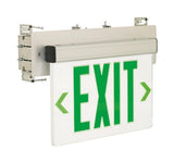 Nora Lighting NX-511-LED Green LED Wall Mount Recessed Edge-Lit Exit Sign Emergency Light Clear Circuit Aluminum - BuyRite Electric