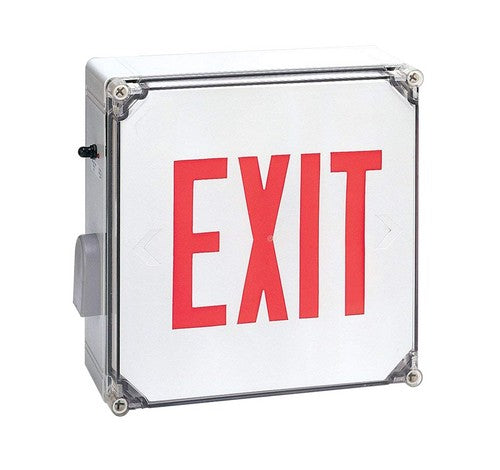 Nora Lighting NX-607-LED Die-Cast Aluminum LED Exit Sign With Battery Backup