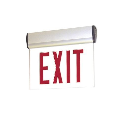 Nora Lighting NX-812-LED Surface Adjustable Red LED Edge-Lit Exit Sign Battery Backup - BuyRite Electric