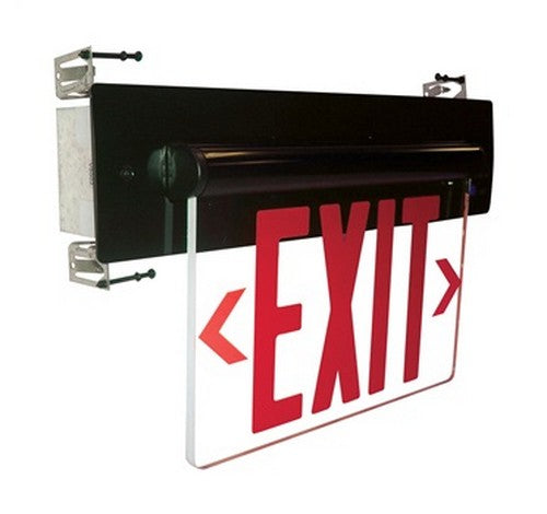 Nora Lighting NX-814-LED Recessed Adjustable Red LED Edge-Lit Exit Sign 2-Circuit - BuyRite Electric