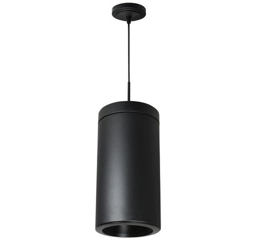 Nora Lighting NYLS-6C1130HBB2-AC 12W 6 Inch Sapphire I Cylinder Wall mount Comfort Dim Reflector with Aircraft Cable 850lm 3000K Haze / Black Flange / Black Cylinder Finish with Black Cylindrical Finish