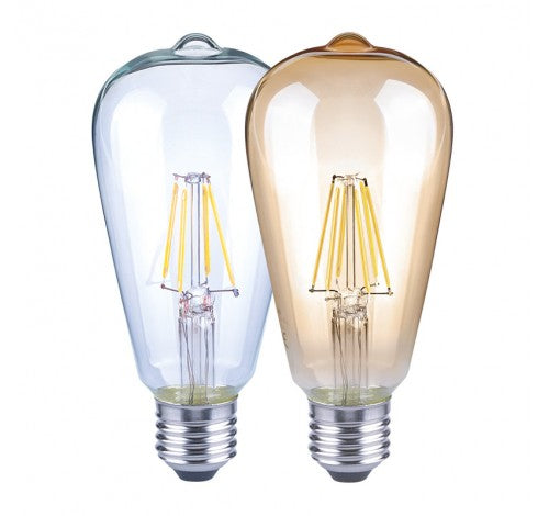 Westgate 5W LED Filament A19 Bulb Clear Glass Finish - 120V