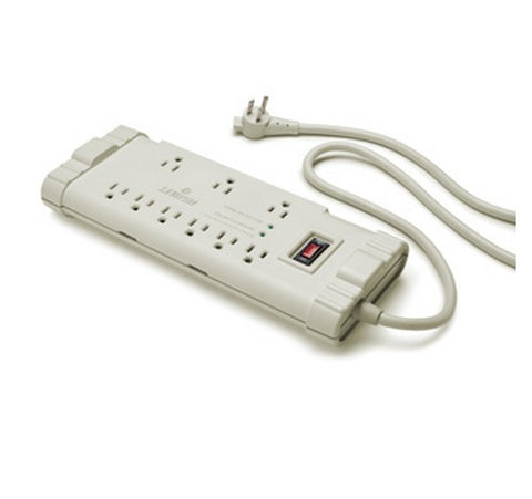 Leviton 5300-S15 15A Surge Protected 6-Outlet Strip With Switch Plus Data Sensitive And 15 Feet 14-3 SJT Cord Length Plastic Housing 125V AC - BuyRite Electric