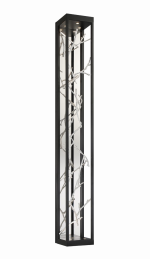 Eurofase Lighting 38638-022 LED Aerie 6 inch Sconce Wall Light Black and Silver Finish