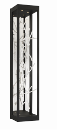 Eurofase Lighting 38639-029 LED Aerie 6 inch Sconce Wall Light Black and Silver Finish