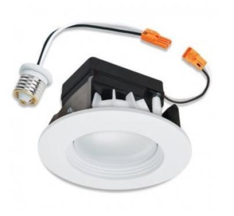 HALO Recessed LED RL460WH830PK 4-Inch Retrofit Module and Trim, White, 80 CRI, 3000K