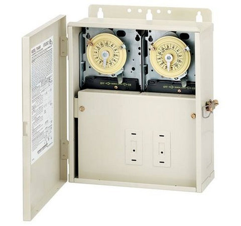Intermatic T10404R 30 A Power Center With Two T104m Mechanisms - BuyRite Electric