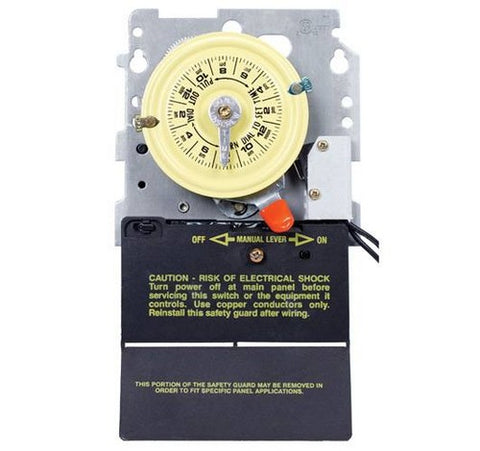 Intermatic T104M201 24-hour Mechanical Time Switch With Pool Heater Protection Mechanism Only - BuyRite Electric