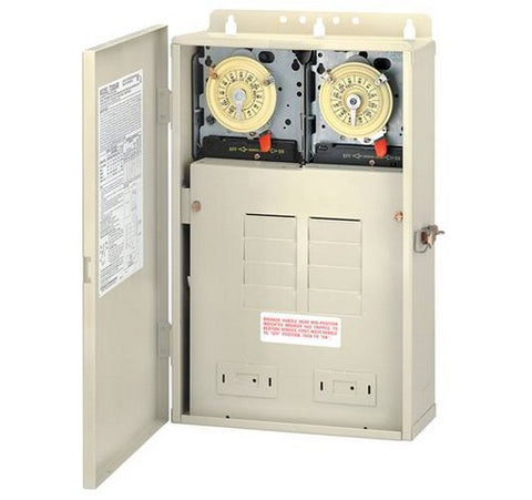 Intermatic T30404R 100 A Load Center With Two T104M Mechanisms - BuyRite Electric