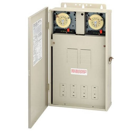 Intermatic T40404R 125 A Load Center With Two T104m Mechanisms - BuyRite Electric