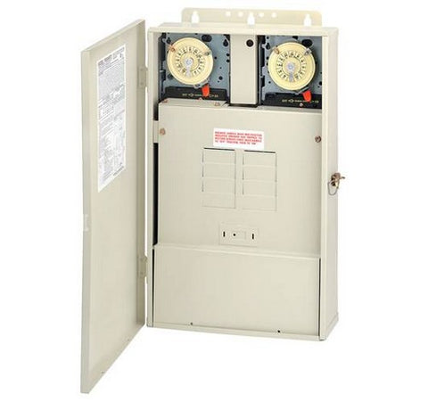 Intermatic T40604RT3 Control System with Transformer and 300 W Load Center with T104M & T106M Mechanisms - BuyRite Electric