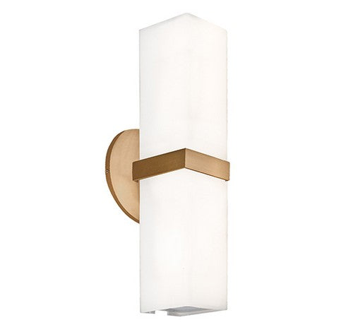 Kuzco Lighting WS8815-XX Bratto Double Wall Sconce Vintage Brass Light 120V - BuyRite Electric