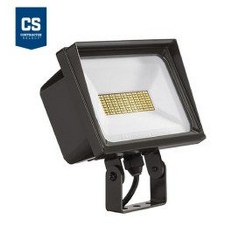 Lithonia Lighting Contractor Select QTE 66W Dark Bronze LED Flood Light - Yoke Mount 120V- BuyRite Electric
