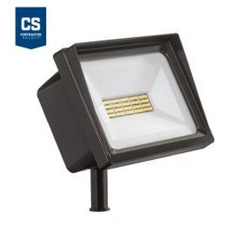 Lithonia Lighting Contractor Select QTE 40W LED Flood Light - Knuckle Mount 120V