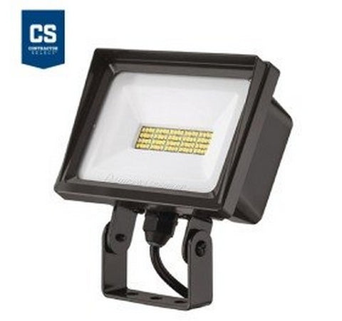 Lithonia Lighting Contractor Select QTE 40W Dark Bronze LED Flood Light - Knuckle Mount 120V- BuyRite Electric