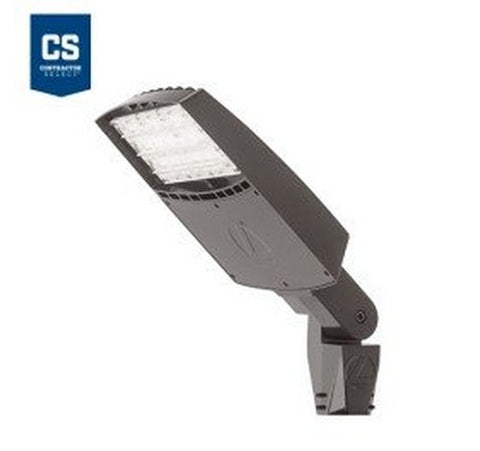 Lithonia Lighting Contractor Select RSXF1 133W Max Dark Bronze LED Flood Light - Integral Slipfitter Mount 120-277V- BuyRite Electric