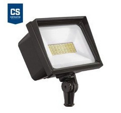 Lithonia Lighting Contractor Select QTE 66W LED Flood Light - Knuckle Mount 120V- BuyRite Electric