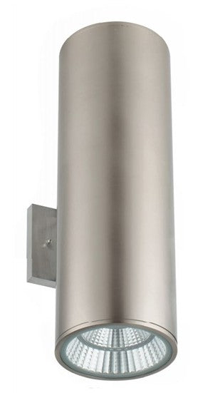 WestGate WMCL-UDL-MCT-BN Wall Mount Cylinder Light 40 Watt Multi-Color Brushed Nickel Finish