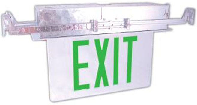 Westgate Led Recessed Edgelit Exit Sign Clear Faceplate - White Canopy - BuyRite Electric