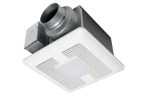 Panasonic WhisperCeiling DC - ECM Motor with Pick-A Flow Fan with Led Light 50-80-110 CFM - BuyRite Electric