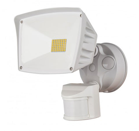 Westgate 28W LED Security Lights With PIR Sensor 120V AC - White - BuyRite Electric