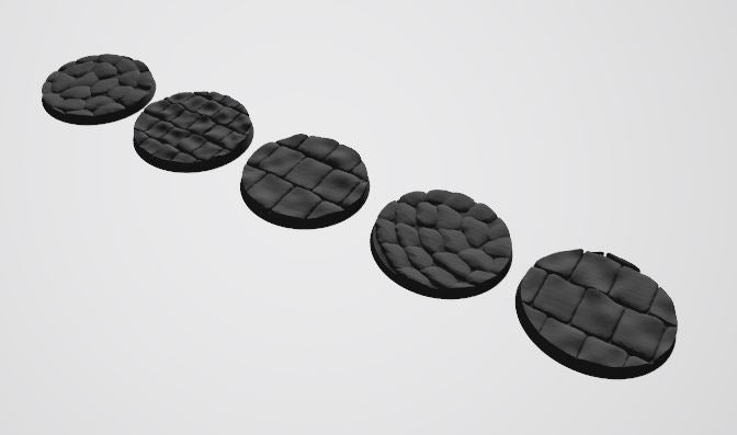 Europa Pattern 50mm Bases STL-file for 3D-Printing