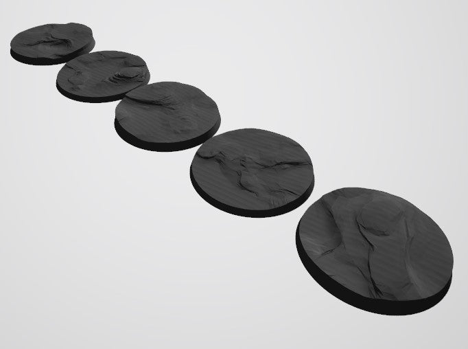 Mars Pattern 50mm Bases STL-File for 3D-Printing