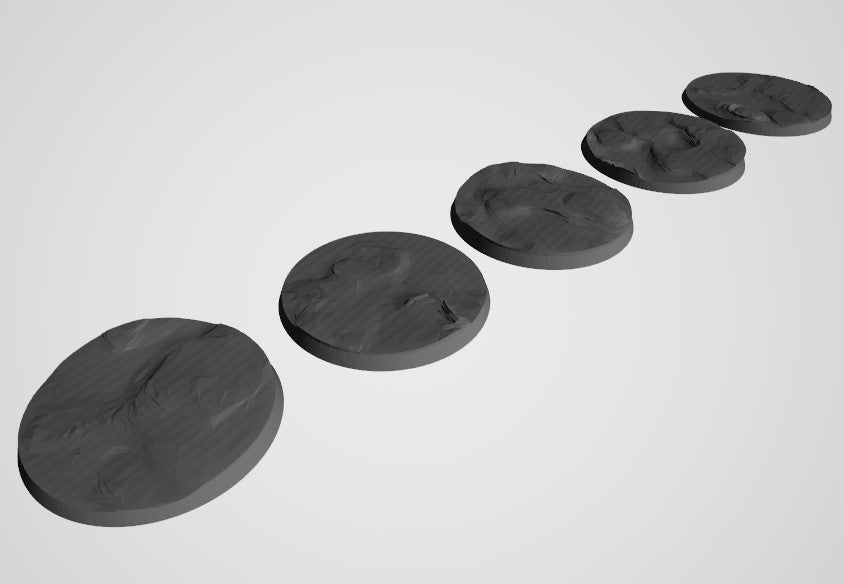 Mars Pattern 60mm Bases STL-File for 3D-Printing