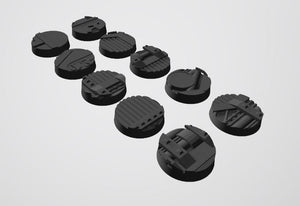Mercury Pattern 25mm Bases STL-file for 3D-Printing