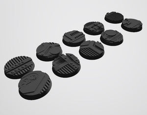 Mercury Pattern 32mm Bases STL-file for 3D-Printing