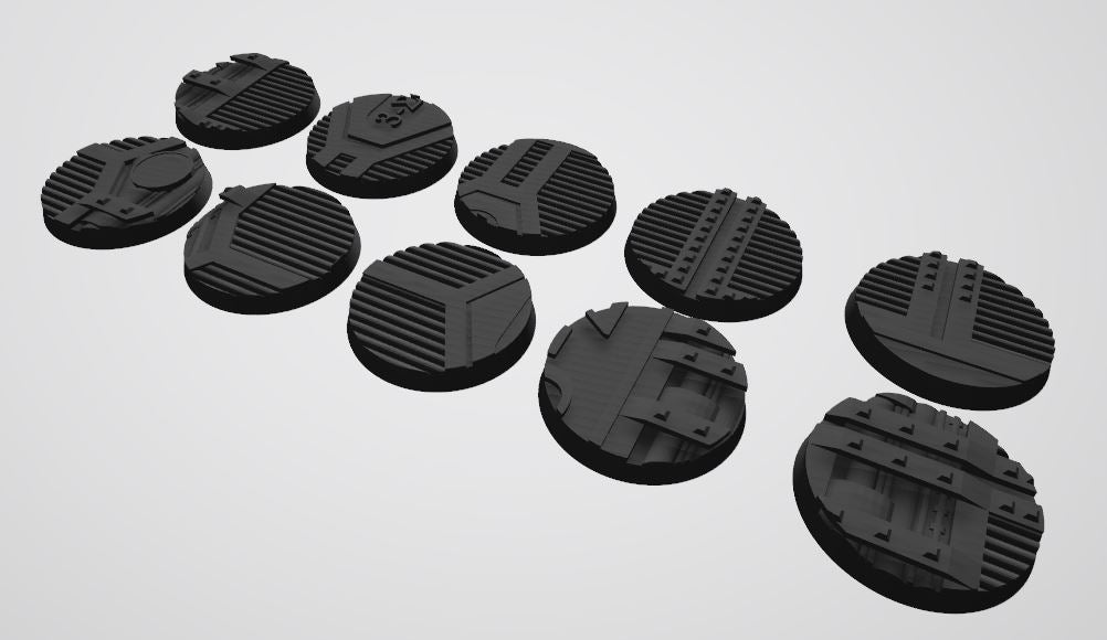 Mercury Pattern 40mm Bases STL-File for 3D-Printing