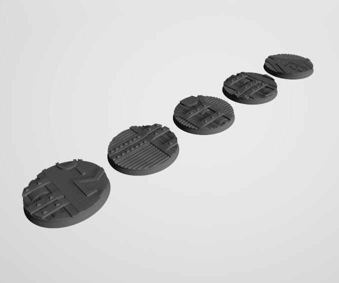 Mercury Pattern 50mm Bases STL-File for 3D-Printing