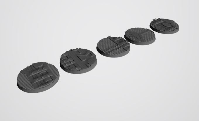 Mercury Pattern 55mm Bases STL-File for 3D-Printing