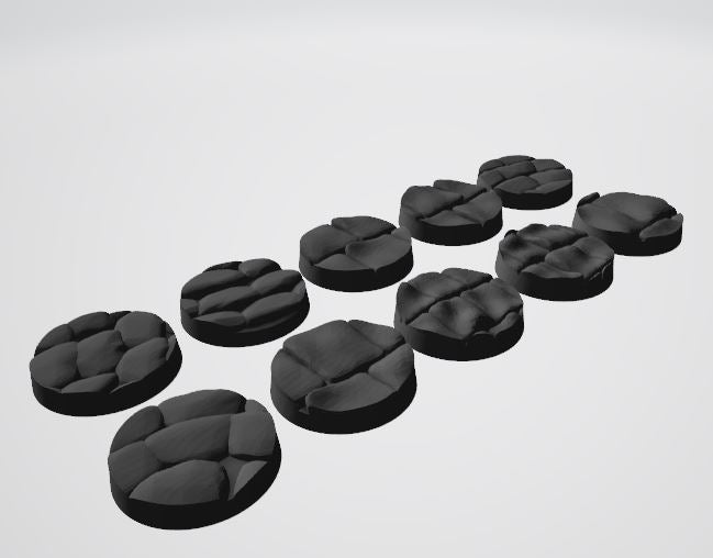 Europa Pattern 25mm Bases STL-file for 3D-Printing