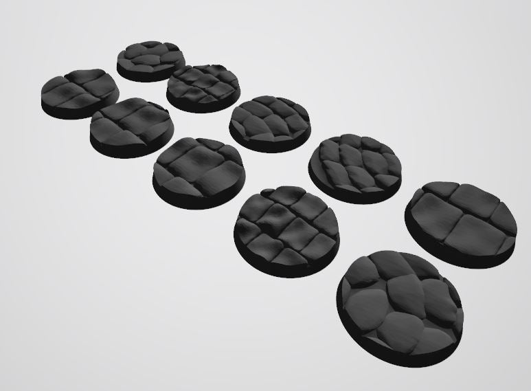 Europa Pattern 32mm Bases STL-file for 3D-Printing