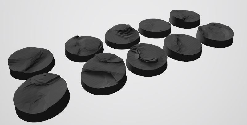 Mars Pattern 25mm Bases STL-File for 3D-Printing