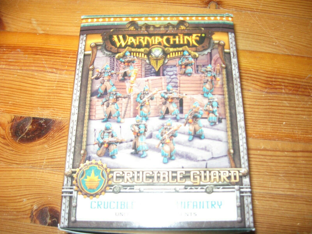 Warmachine Crucible Guard Infantry unit with attachments box new
