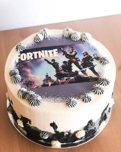 Fortnite Printed Image Cake - Size Options Available